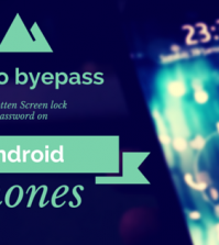 How to byepass forgotten screen lock