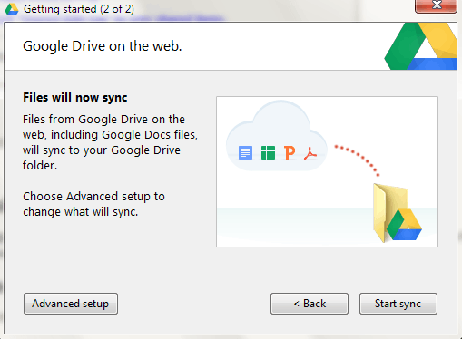 change google drive location in windows 8