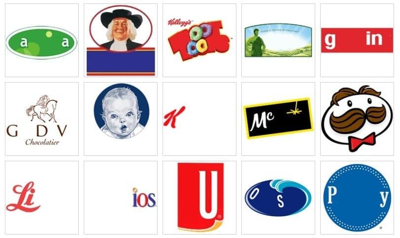 100 pics food logo
