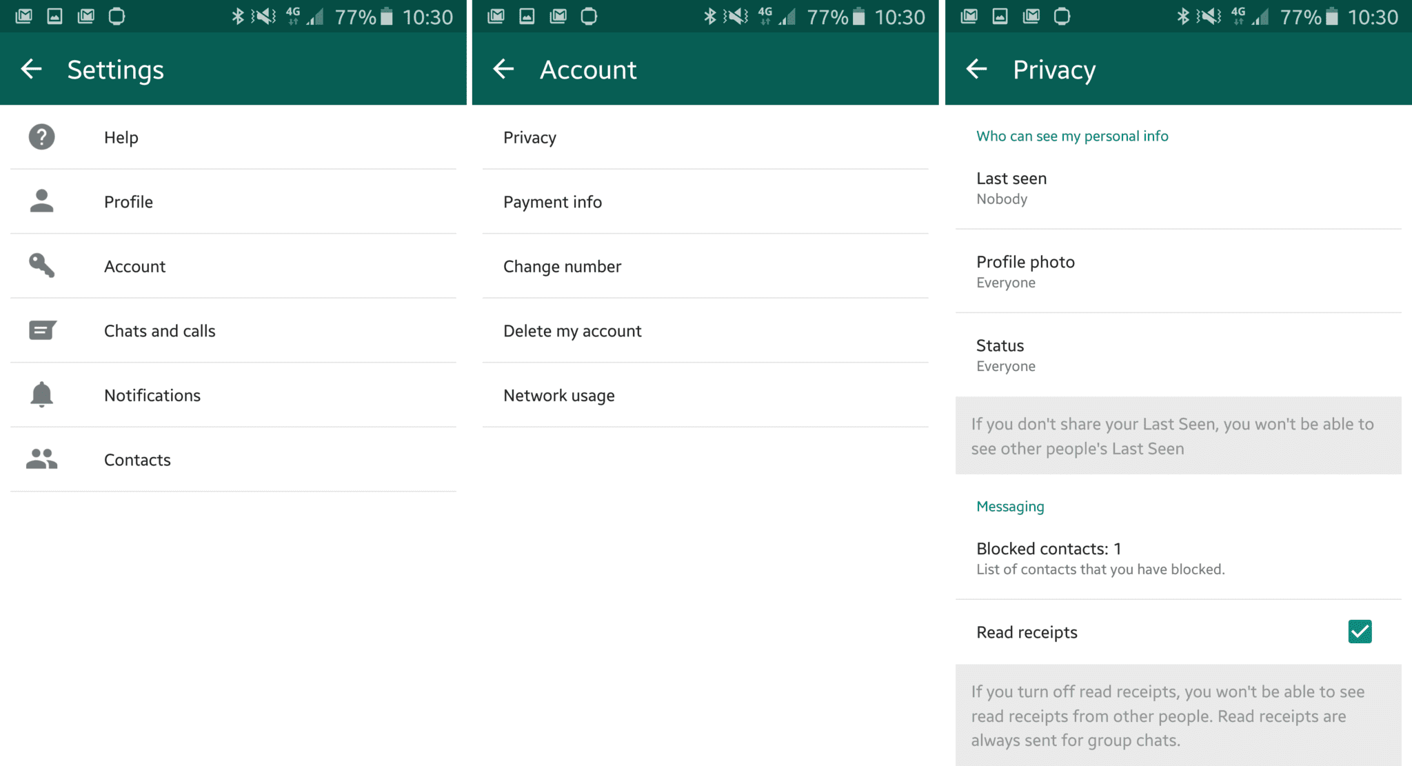 How to hide online status, second blue tick and blue tick on whatsapp