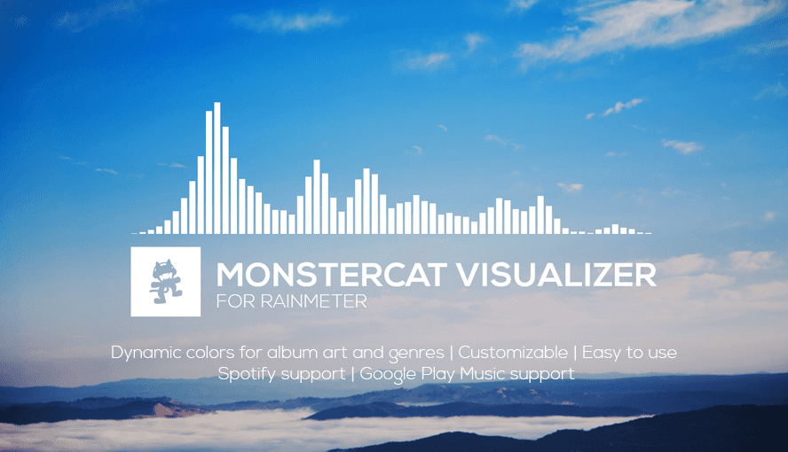 Monstercat Visualizer for Rainmeter - Realtime Audio Visualizer